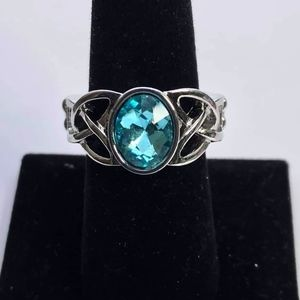 NWT Free with Bundle Shimmer Splash Blue Ring